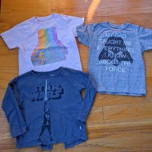 Star Wars lot : size 4 t-shirts